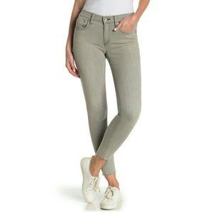 NWT rag & bone Gray Skinny Ankle Frayed Hem Jeans